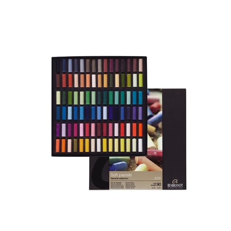 Rembrandt Soft Pastels General Selection Professional Set, scatola 90 mezzi pastelli soffici