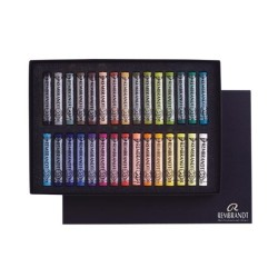 Rembrandt Soft Pastels General Selection Basic Set, scatola 30 pastelli soffici