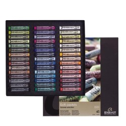 Rembrandt Soft Pastels General Selection Traditional Set, scatola 45 pastelli soffici