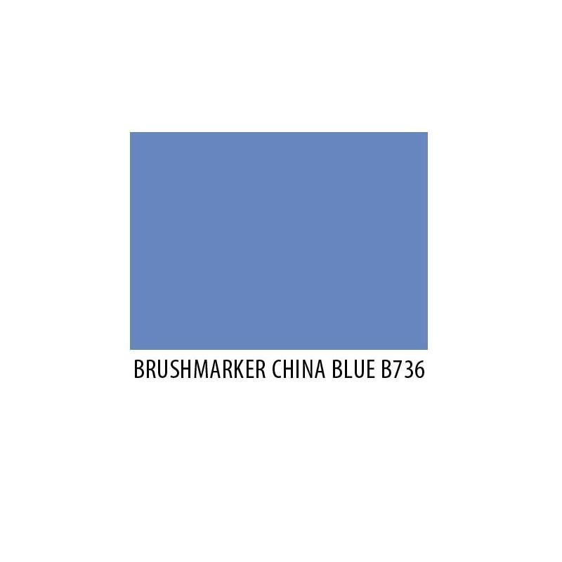Brushmarker China Blue B736