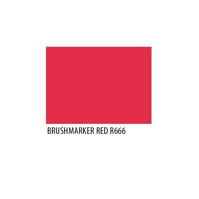 Brushmarker Red R666
