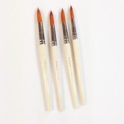 Serie n.975 pennello in pelo sintetico dorato a punta tonda, per grandi superfici