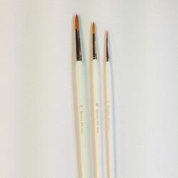 Serie n.978, pennello sintetico a punta tonda, manico lungo