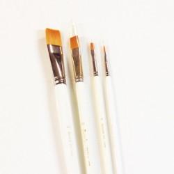 Serie n.983, pennello sintetico a punta piatta, manico lungo