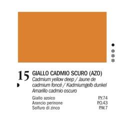 15 - Ferrario Olio Van Dyck Giallo cadmio scuro - tubo 60ml