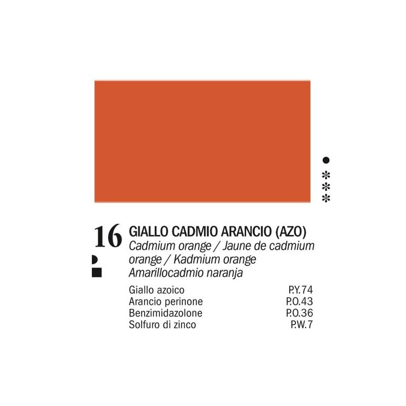 16 - Ferrario Olio Van Dyck Giallo cadmio arancio - tubo 60ml