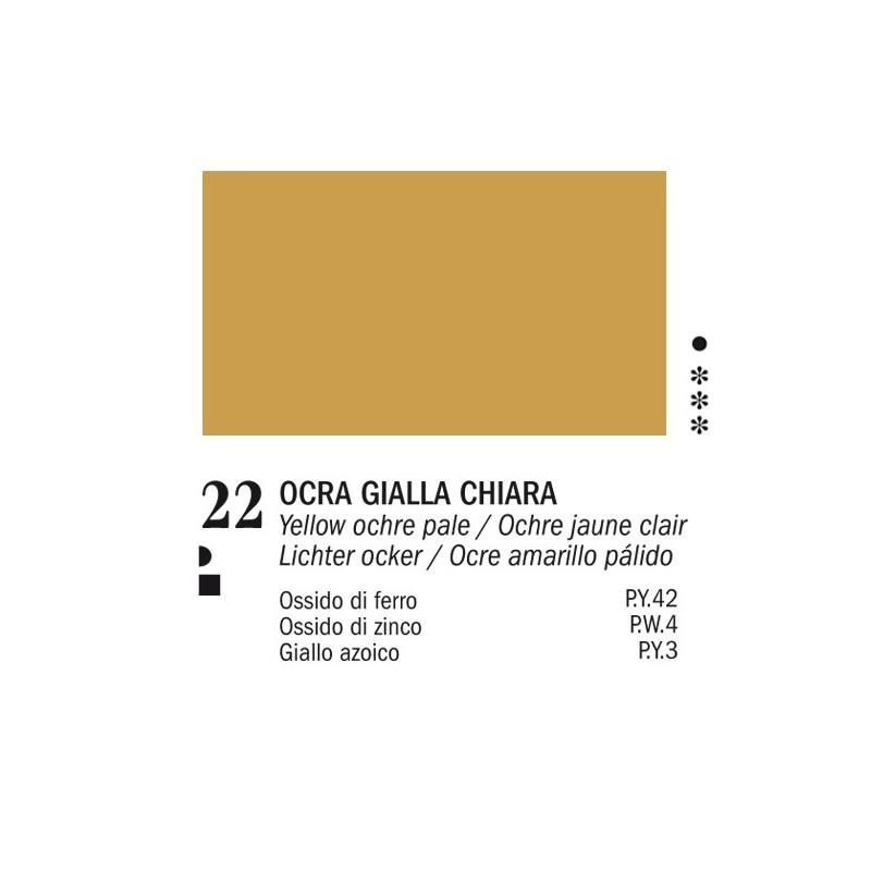 22 - Ferrario Olio Van Dyck Ocra gialla chiara - tubo 60ml