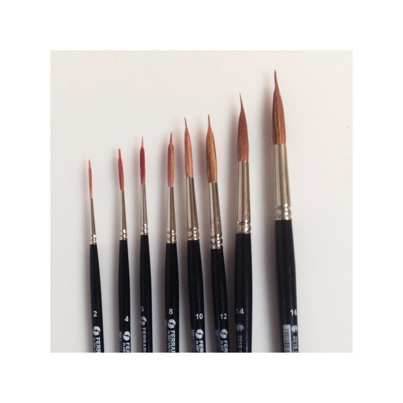 Goya Serie n.ES2016, pennello in pelo di bue a doppia punta