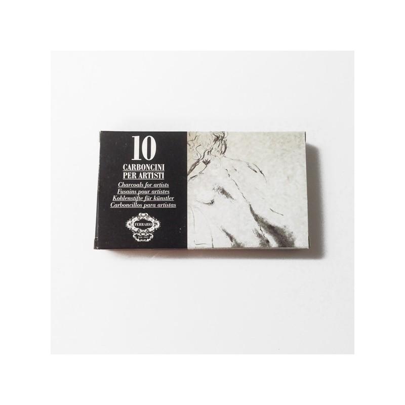 Carboncini per artisti Ferrario grigi confezione 10pz