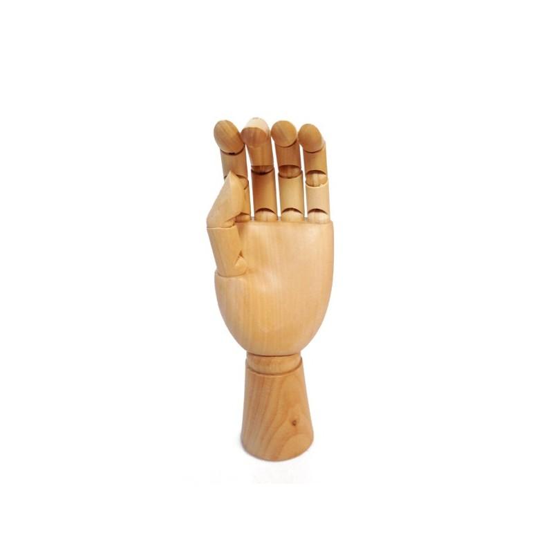 Modello snodabile di Mano Sinistra in legno cm.25