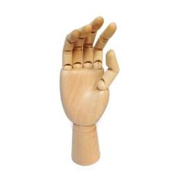 Modello snodabile di Mano Destra in legno cm.25