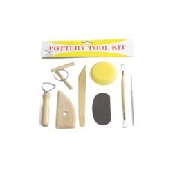 Set 8 utensili professionali assortiti per modellare l'argilla