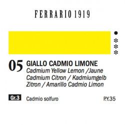 005 - Ferrario Olio 1919 giallo cadmio limone