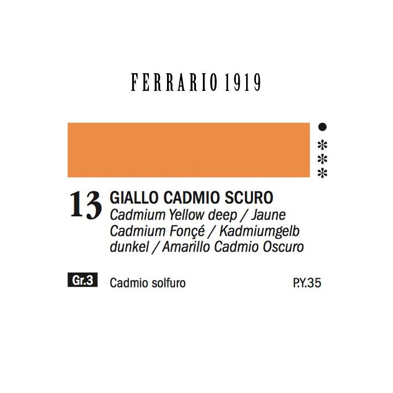 013 - Ferrario Olio 1919 Giallo cadmio scuro