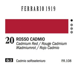 020 - Ferrario Olio 1919 Rosso cadmio medio