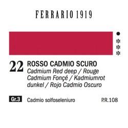 022 - Ferrario Olio 1919 Rosso cadmio scuro