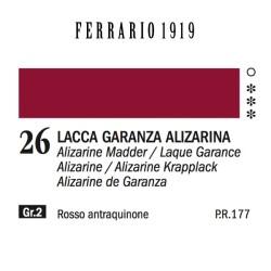 026 - Ferrario Olio 1919 Lacca garanza alizarina