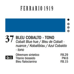 037 - Ferrario Olio 1919 Bleu cobalto