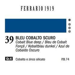 039 - Ferrario Olio 1919 Bleu cobalto scuro