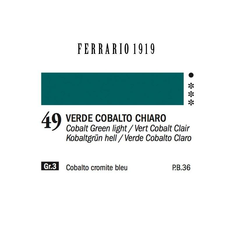049 - Ferrario Olio 1919 Verde cobalto chiaro