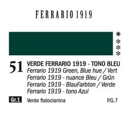 051 - Ferrario Olio 1919 Verde ferrario 1919 (tono bleu)