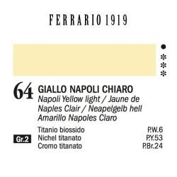 064 - Ferrario Olio 1919 Giallo napoli chiaro