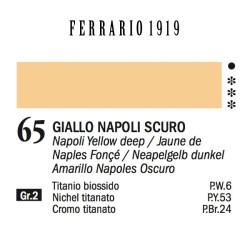 065 - Ferrario Olio 1919 Giallo napoli scuro