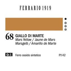 068 - Ferrario Olio 1919 Giallo di marte