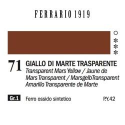 071 - Ferrario Olio 1919 Giallo di marte trasparente