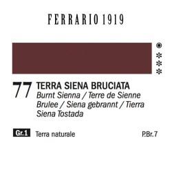 077 - Ferrario Olio 1919 Terra siena bruciata