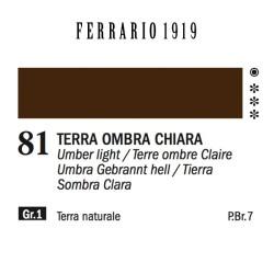 081 - Ferrario Olio 1919 Terra ombra chiara