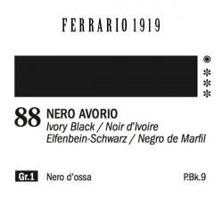 088 - Ferrario Olio 1919 Nero avorio
