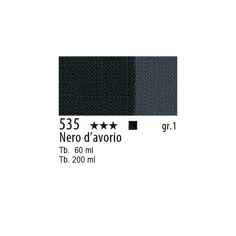 535 - Maimeri Brera Acrylic Nero d'avorio