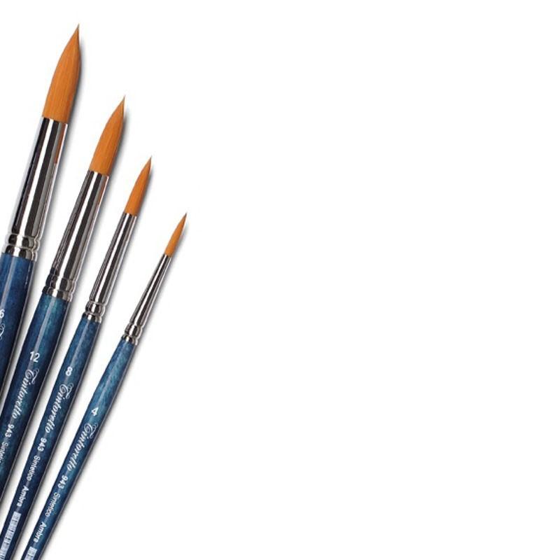 Tintoretto Serie n.943, pennello sintetico AMBRA a punta tonda