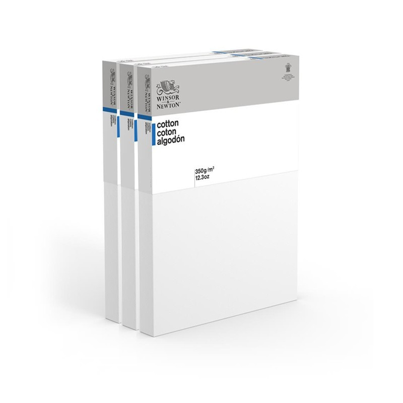 CM.80X100 - Set 3 Telai telati Winsor & Newton 100% cotone 350 gr/mq, spessore doppio