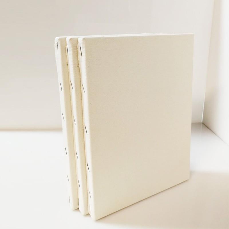 CM.35X45 - Set 3 Telai telati misto cotone 300 gr/mq, spessore normale, made in Italy