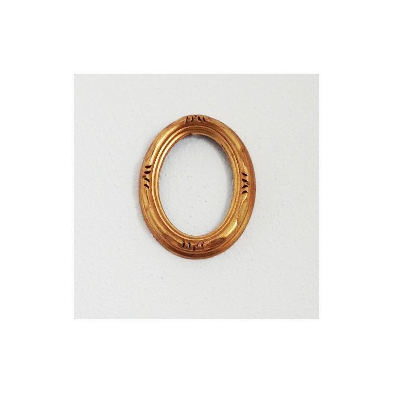 Cornice in legno ovale cm 50x60 intagliata