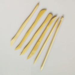 Set 6 mini stecche in legno di bosso da cm.15