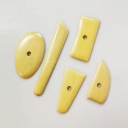 Set 5 utensili in legno di bosso per tornio