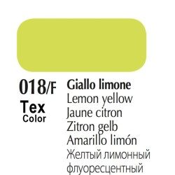 018/F - Tex Color Giallo Limone Fluorescente 50ml