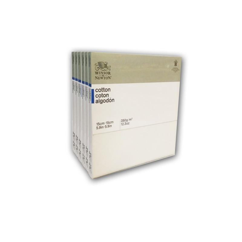 CM.15X15 - Set 6 Telai telati Winsor & Newton 100% cotone 350 gr/mq, spessore normale
