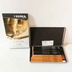 Scatola in metallo 12 matite da disegno Lyra serie Art Specials