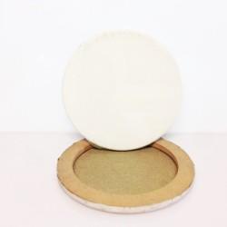 DIAM.CM.10 - Telaio telato misto cotone 350gr/mq, tondo, made in Italy