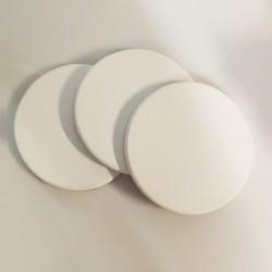 Set 3 telai telati misto cotone 350gr/mq, tondi, made in Italy