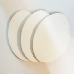 Set 3 telai telati misto cotone 350 gr/mq, ovali, made in Italy