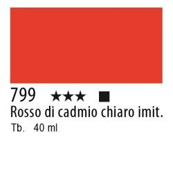 799 - Lefranc Olio Fine Rosso di cadmio chiaro imitazione