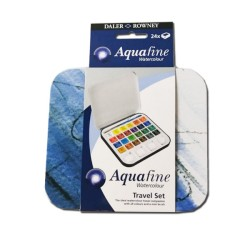 Acquafine acquerelli Travel set 24 mezzi godet