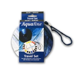 Acquafine acquerelli Travel set 18 mezzi godet