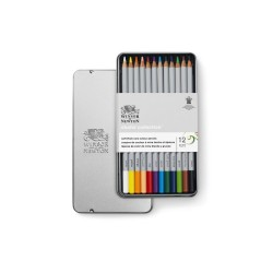 Winsor & Newton scatola metallo 12 matite colorate