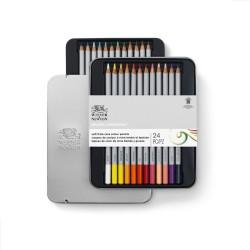 Winsor & Newton scatola metallo 24 matite colorate